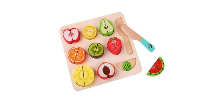 Деревянная игрушка Classic World классический конструктор-пазл в виде фруктов Пастель