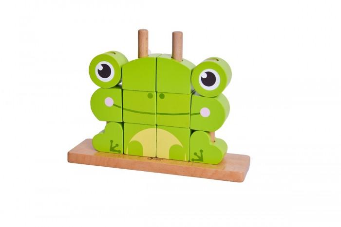 Деревянная игрушка Classic World вертикальный пазл Лягушонок