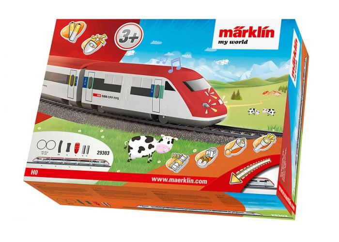 Купить Железные дороги, Marklin My world Стартовый набор Скоростной поезд Швейцарии ICN