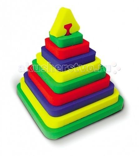 Развивающие игрушки Бомик Пирамида Квадрат конструкторы бомик развивающая игрушка конструктор пирамиды