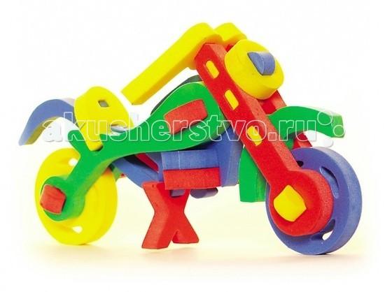 Конструкторы Бомик Объемный Мотоцикл бомик мягкий конструктор трактор с тележкой
