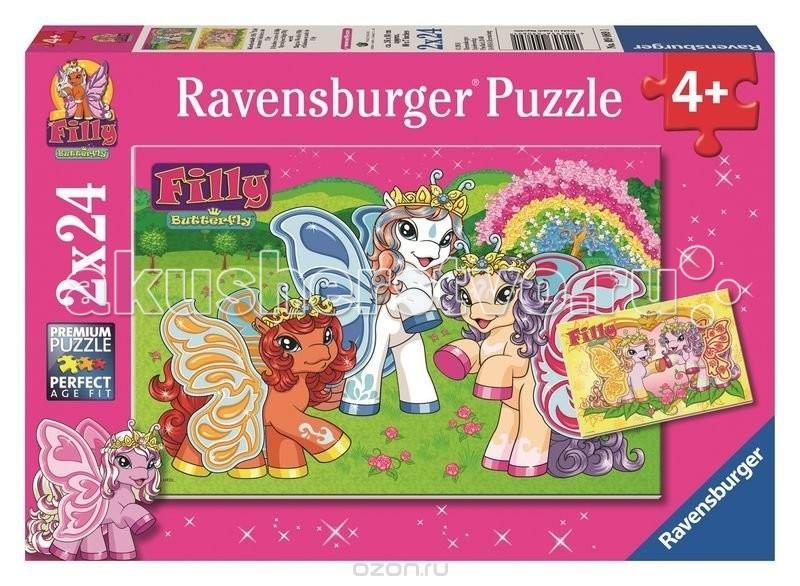 Пазлы Ravensburger Пазл 2 в 1 Филли 2x24 элементов ravensburger пазл 2 в 1 стройплощадка 48 деталей