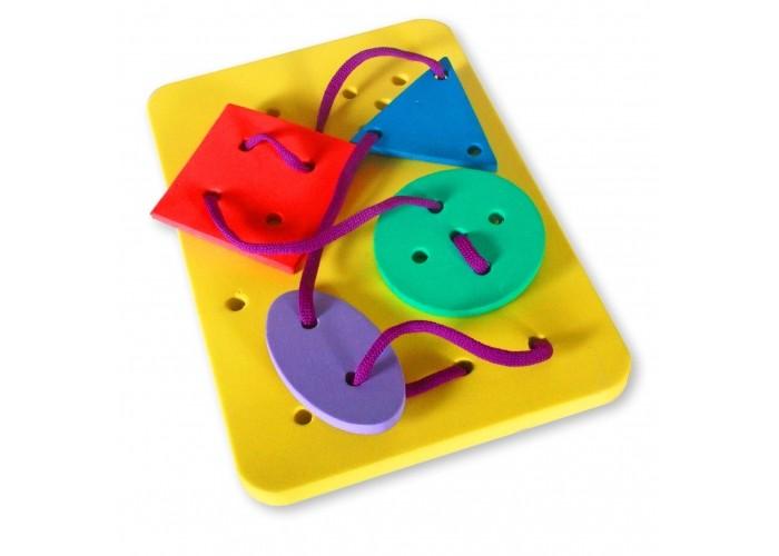 Развивающие игрушки Бомик Шнуровка Геометрические фигуры пазлы бомик вкладыш бабочки
