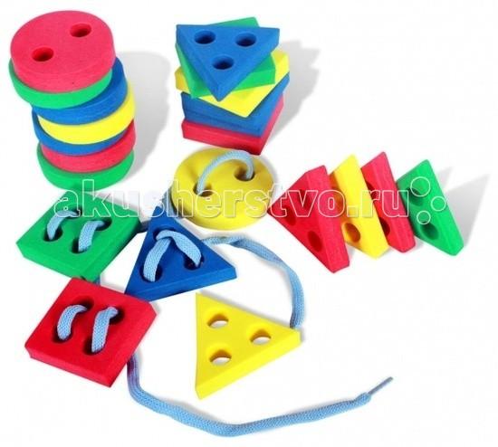 Развивающие игрушки Бомик Шнуровка Геометрические фигуры 24 шт. геометрические фигуры из гипса в донецке