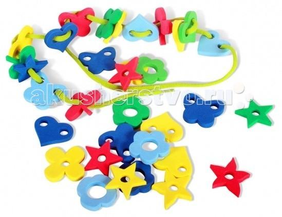 Развивающие игрушки Бомик Шнуровка Ассорти Цветы пазлы бомик цифры