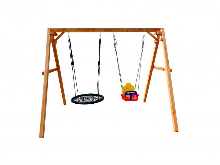 Купить Качели Можга (Красная Звезда) деревянные со спинкой и с качелями гнездо Oval в интернет магазине. Цены, фото, описания, характеристики, отзывы, обзоры