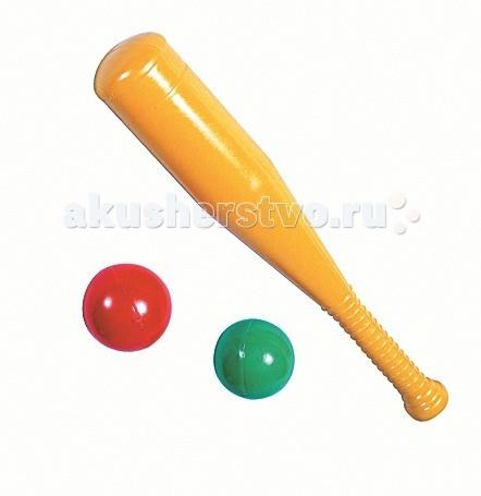 Спортивный инвентарь СВСД Бейсбольная бита + 2 шара