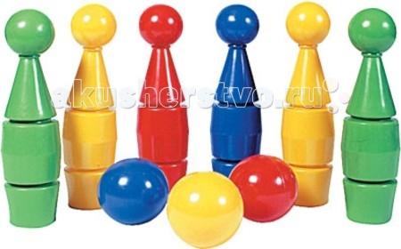 Спортивный инвентарь СВСД Кегли (6 кегель + 3 шара) спортивные игровые наборы кассон кегли 5 кеглей 2 мяча