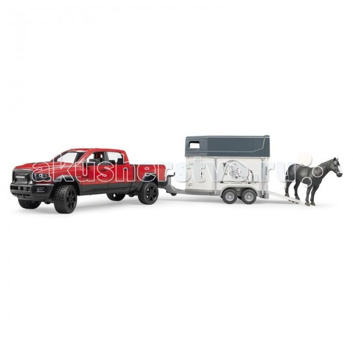 Bruder Пикап RAM 2500 c коневозкой и одной лошадью 02-501 фото