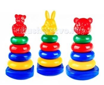 Развивающие игрушки СВСД Пирамидка-качалка Квадрат Мультик свсд пирамидка качалка квадрат конус
