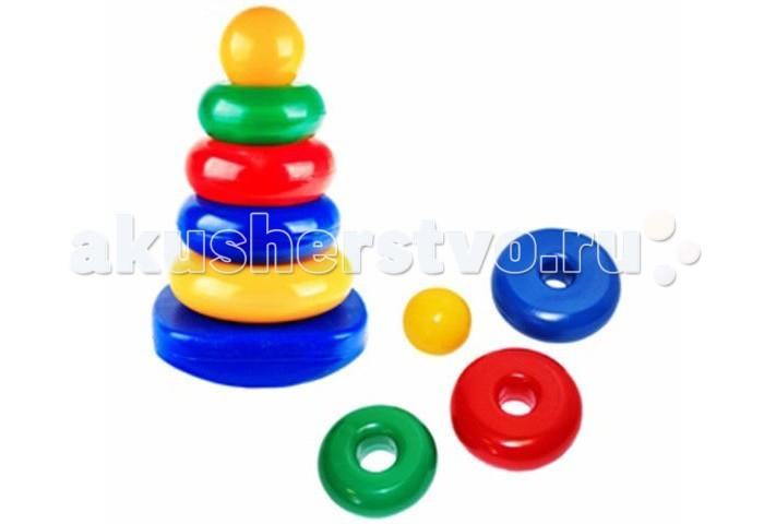 Развивающие игрушки СВСД Пирамидка-качалка Круг развивающие игрушки свсд пирамидка лисичка