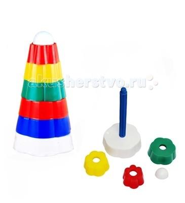 Развивающие игрушки СВСД Пирамидка Цветок 2 в 1 развивающие игрушки spiegelburg пирамидка baby gluck