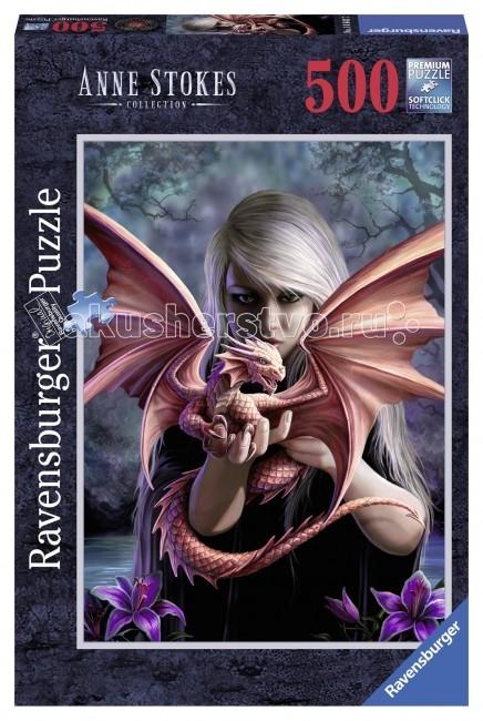 Пазлы Ravensburger Пазл Девушка с драконом 500 элементов ravensburger пазл пронзительный взгляд 500 деталей