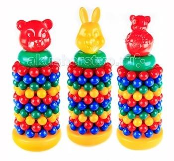 развивающие игрушки свсд пирамидка большая мультик Развивающие игрушки СВСД Пирамидка с шарами Мультик