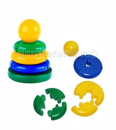 Развивающие игрушки СВСД Пирамидка Логика кроха Шар развивающие игрушки spiegelburg пирамидка baby gluck