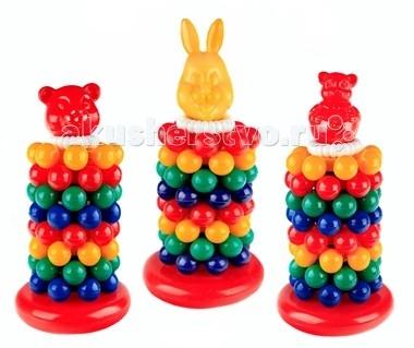 развивающие игрушки свсд пирамидка большая Развивающие игрушки СВСД Пирамидка Лесная сказка