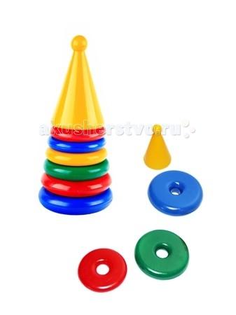 Развивающие игрушки СВСД Пирамидка Ракета развивающие игрушки свсд пирамидка лисичка