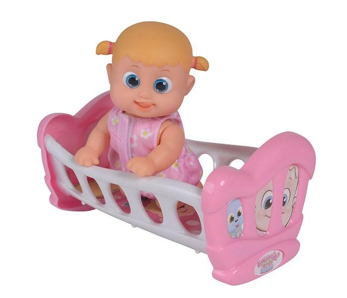 Куклы и одежда для кукол Bouncin Babies Кукла Бони с кроваткой 16 см bouncin babies бони с кроваткой разноцветный