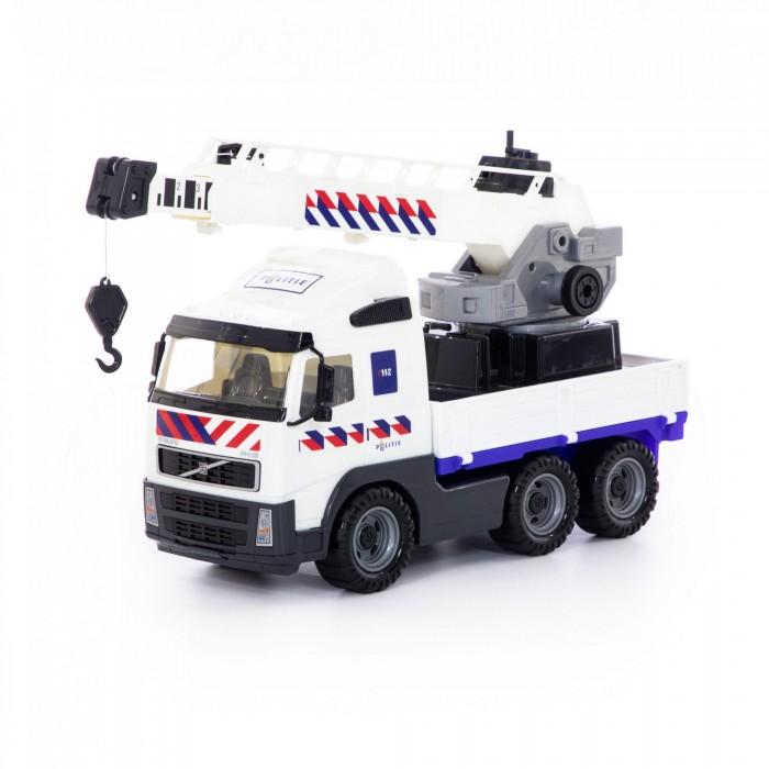 Купить Машины, Полесье Автомобиль-кран с поворотной платформой полицейский Volvo