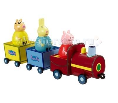 Игровые наборы Свинка Пеппа (Peppa Pig) Игровой набор Поезд Пеппы-неваляшки peppa pig игровой набор дом пеппы с садом 31611