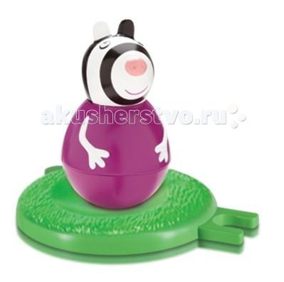 Игровые фигурки Свинка Пеппа (Peppa Pig) Фигурка-неваляшка Зебра Зои мягкие игрушки peppa pig мягкая игрушка пеппа модница 20 см