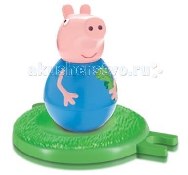 Игровые фигурки Свинка Пеппа (Peppa Pig) Фигурка-неваляшка малыш Джордж мягкая игрушка peppa pig джордж с машинкой свинка розовый текстиль 18 см 29620