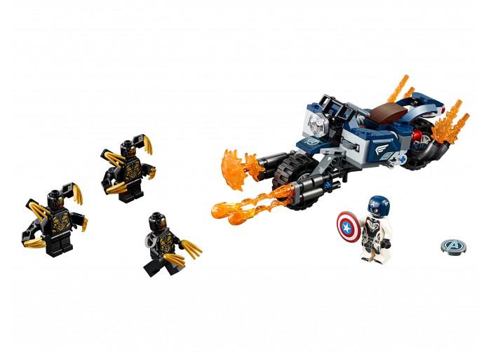 Купить Конструктор Lego Super Heroes 76123 Лего Супер Герои Капитан Америка Атака Аутрайдеров