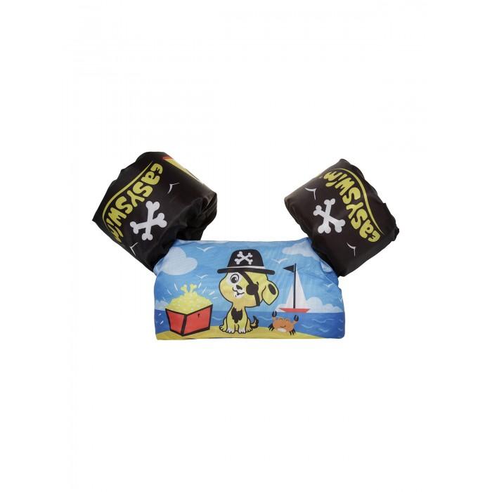 Купить Круги и нарукавники для плавания, EasySwim Жилет для плавания ненадувной с нарукавниками Щенок-пират