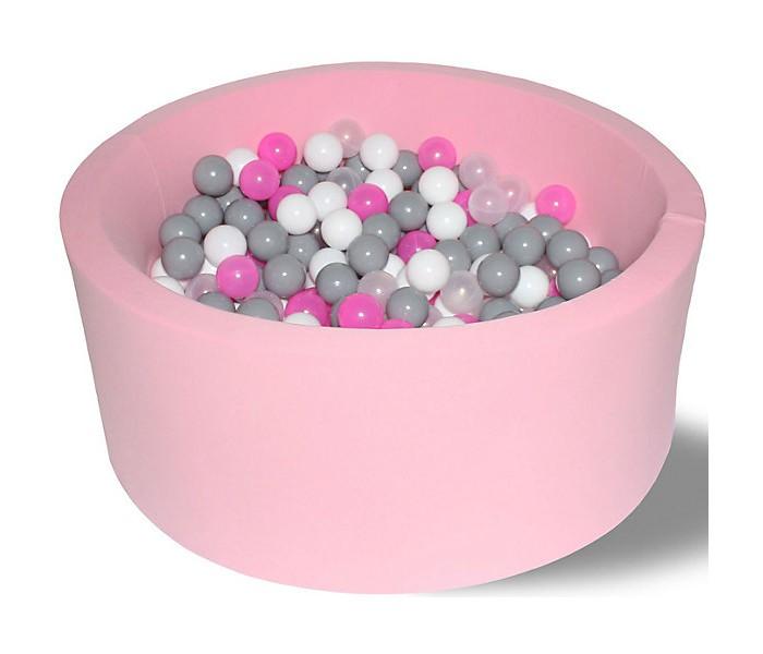 Hotenok Сухой Бассейн Розовые пузыри 33 см с комплектом шаров 200 шт. фото