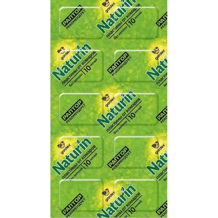 средства от насекомых Средства от насекомых Gardex Naturin Пластины от комаров без запаха 10 шт.