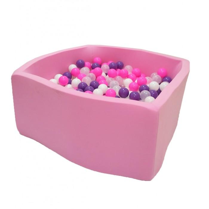 Hotenok Сухой Бассейн Фиолетовые пузыри Квадро 40 см с комплектом шаров 200 шт. фото