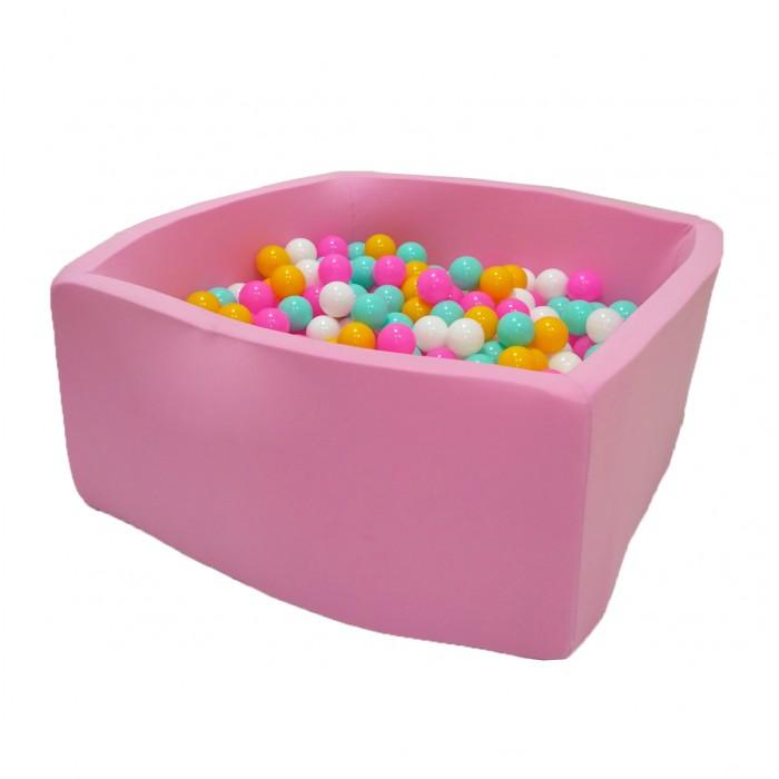 Hotenok Сухой Бассейн Розовый цветок Квадро 40 см с комплектом шаров 200 шт. фото