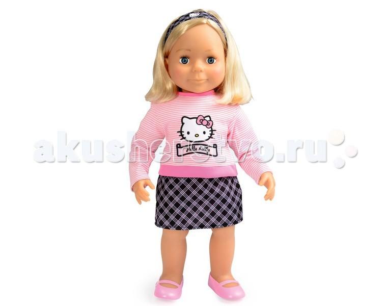 Smoby Кукла Emma Hello KittyКукла Emma Hello KittyКукла Smoby Emma - очень красивая, стильная куколка из серии Hello Kitty.   Особенности:    Голова, ручки и ножки выполнены из пластика, а тельце мягконабивное.   В комплекте есть расческа.   Кукла одета в красивую одежду Hello Kitty   Размер: 54 см<br>