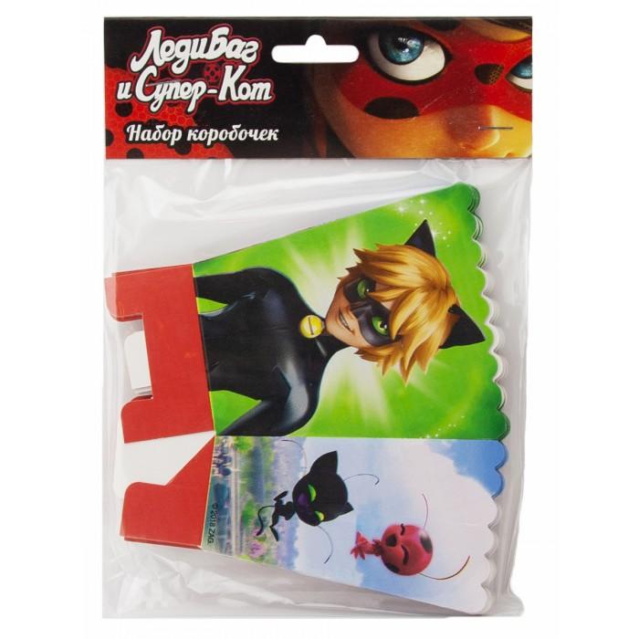 Товары для праздника Nd Play Леди Баг и Супер-Кот Набор коробочек 6 шт. игровой набор диджей баг тролли