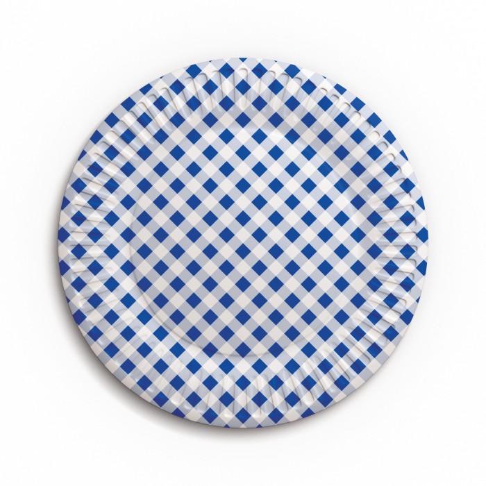 Товары для праздника Nd Play Набор бумажных тарелок Клетка 6 шт. набор бумажных форм для кексов красный узор диаметр дна 5 см 50 шт