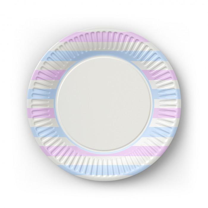 Товары для праздника Nd Play Набор бумажных тарелок Пастель 6 шт. набор бумажных форм для кексов красный узор диаметр дна 5 см 50 шт