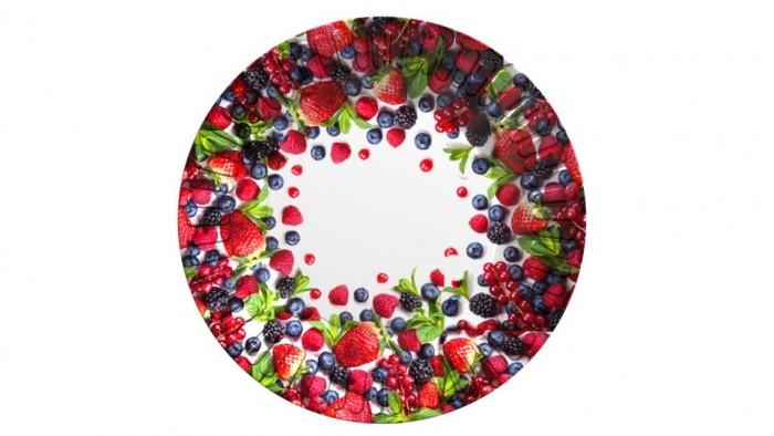 Товары для праздника Nd Play Набор бумажных тарелок Ягоды 6 шт. набор бумажных форм для кексов красный узор диаметр дна 5 см 50 шт