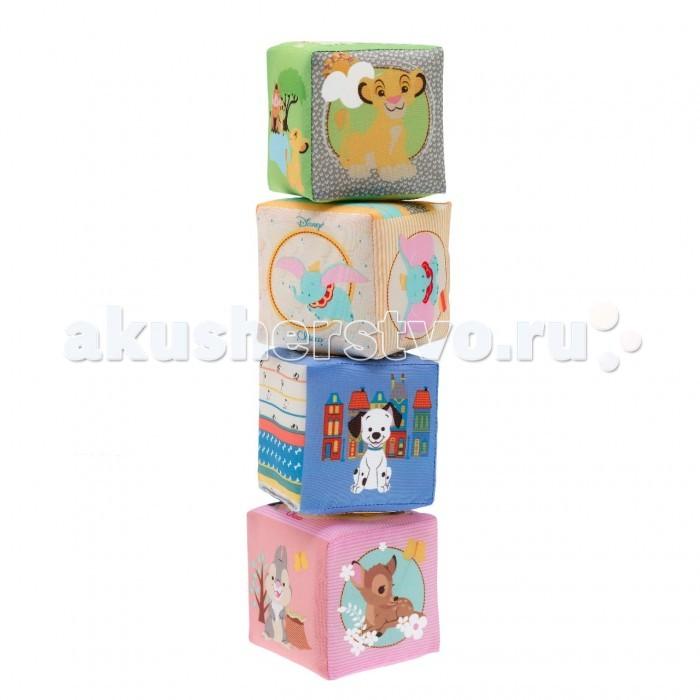 Развивающая игрушка Chicco Кубики мягкие DisneyКубики мягкие DisneyКубики мягкие Chicco Disney Любимые герои Disney оживают на мягких кубиках Chicco! C их помощью можно придумать множество разных игр, которые развеселят и позабавят малыша. Каждый кубик способствует развитию сенсорики: зрительного, тактильного и слухового восприятия. Кубики издают шуршащие и звенящие звуки, а у кубика с изображением героя анимационного фильма Disney Бемби есть зеркальце, которое создает забавные световые эффекты.  Игры с кубиками развивают мелкую моторику малыша. Прекрасно подойдут для сооружения красивой башни, которую тут же можно разрушить.  Мультифункциональные кубики Chicco оживают благодаря милым персонажам анимационных фильмов Disney: слоненку Дамбо, львенку Симбе, олененку Бемби и герою из «101 далматинца». Каждая сторона украшена забавными изображениями и яркими принтами. Глядя на них, воодушевленные мамы и папы могут придумать собственную историю. Набор состоит из 4 разноцветных тканевых кубиков c мягкой набивкой внутри.<br>