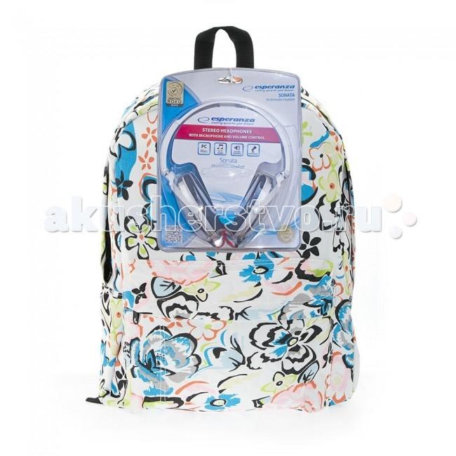 3D Bags Рюкзак Цветы с наушниками