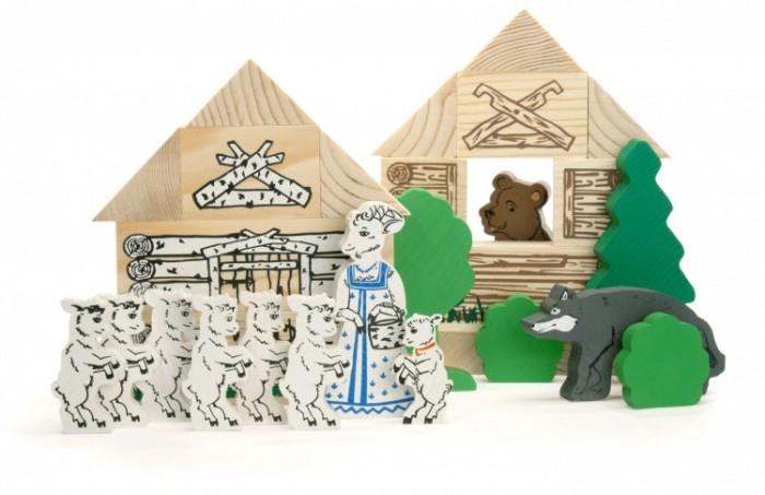 Деревянные игрушки Томик Конструктор Сказки Волк и семеро козлят
