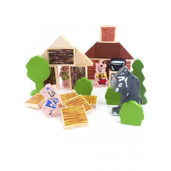 Деревянные игрушки Томик Конструктор Сказки три поросенка