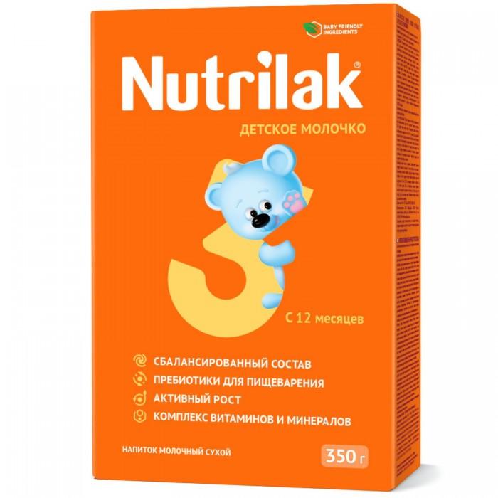 Молочные смеси Nutrilak Детское молочко 3 с 12 мес. 350 г детское молочко малютка 3 с 12 мес 300 г