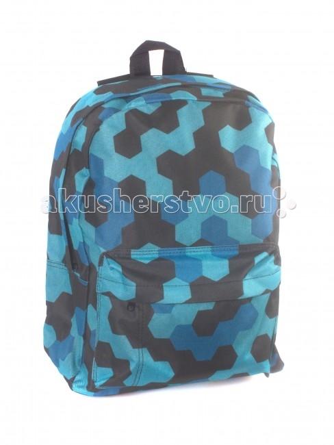 3D Bags Рюкзак Мозаика синяяРюкзак Мозаика синяяРюкзак Мозаика синяя 3DBC412  Стильный, вместительный и практичный, рюкзак понравится и школьникам, и студентам.   Просторный внутренний отсек, наружный карман на молнии будут очень удобны в использовании.   Материал - полиэстер  Размер - 40х32х13 см<br>