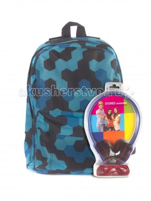 3D Bags Рюкзак Мозаика синяя с наушникамиРюкзак Мозаика синяя с наушникамиРюкзак Мозаика синяя с наушниками 3DBC412N  Стильный, вместительный и практичный, рюкзак понравится и школьникам, и студентам.   Просторный внутренний отсек, наружный карман на молнии будут очень удобны в использовании.   В комплект входят синие стереонаушники с мягкими ушными подушками. Длина кабеля 2 м, разъем 3.5 мм, сопротивление 32 Ом, диапазон часто - 20 Гц-20000 Гц, выходная мощность - 100 мВт.  Материал - полиэстер  Размер - 40х32х13 см<br>