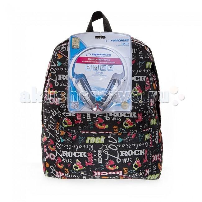 3D Bags Рюкзак Рок-Стар с наушникамиРюкзак Рок-Стар с наушникамиРюкзак Рок-Стар с наушниками 3DBC491N  Стильный, вместительный и практичный, рюкзак понравится и школьникам, и студентам.   Просторный внутренний отсек, наружный карман на молнии будут очень удобны в использовании. Настоящая находка для будущей рок-звезды!   В комплект входят белые стереонаушники с мягкими ушными подушками. Длина кабеля 2 м, разъем 3.5 мм, сопротивление 32 Ом, диапазон часто - 20 Гц-20000 Гц, выходная мощность - 100 мВт.  Материал - полиэстер  Размер - 40х32х13 см<br>