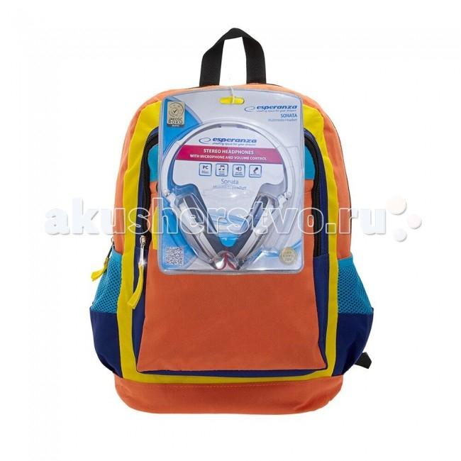 3D Bags Рюкзак Оранжевое настроение с наушниками