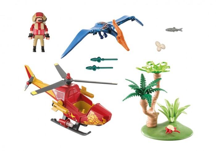 Картинка для Конструктор Playmobil Динозавры Вертолет для приключений с птеродактилем