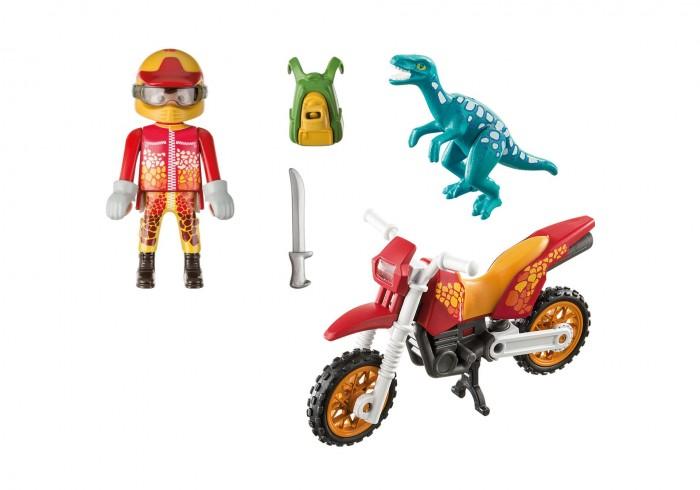 Конструктор Playmobil Динозавры Гоночный мотоцикл с ящером