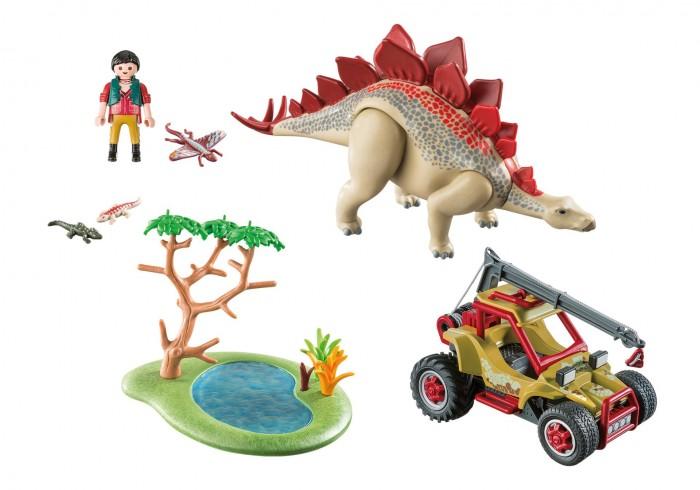 Конструктор Playmobil Динозавры Исследовательский транспорт со стегозавром