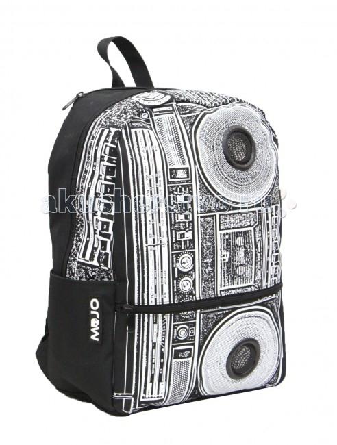 Mojo Pax Рюкзак со стереоколонками BoomboxРюкзак со стереоколонками BoomboxРюкзак со стереоколонками для iPhone/iPod/mp3 Boombox Mojo Pax  Стильный и запоминающийся монохром - это возможно!  Настроение диско-стиля в сдержанной черно-белой гамме смотрится неожиданно и интересно!   Этот рюкзак от Mojo, украшенный принтом с музыкальными мотивами, расскажет все о самобытности и оригинальном взгляде на мир своего владельца. В рисунке угадывается старый кассетный магнитофон с большими колонками. Этот привет ретро-стилю делает аксессуар невероятно симпатичным.   В комплекте встроенные стереоколонки с усилителями для iPhone/iPod/mp3. Работет от 4х пальч. батареек, разьем 3.5` (стандартный).  Материал - полиэстер/люминесцентная краска  Размер - 43х31х18 см  MOJO – это бьющая через край энергия молодости, это современный, яркий, смелый стиль для тех, кто не привык сливаться с фоном. Бренд предлагает большой выбор рюкзаков, чехлов для планшетов и ноутбуков, кошельков, наушников и других аксессуаров. Подростки и молодежь любят продукцию MOJO за поистине уникальное сочетание качества, эргономичности, удобства и стопроцентно запоминающейся «внешности». Яркие, смелые, привлекающие к себе внимание принты, современные ткани, высококлассная фурнитура, безупречное качество пошива – эти вещи будут с вами – и будут на пике популярности - ни один год! Качество MOJO давно по достоинству оценили на Западе и в Европе – бренд любят и школьники, и студенты, и взрослые любители ярких вещей и яркой жизни.<br>